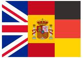montage drapeaux Angleterre Espagne et Allemagne