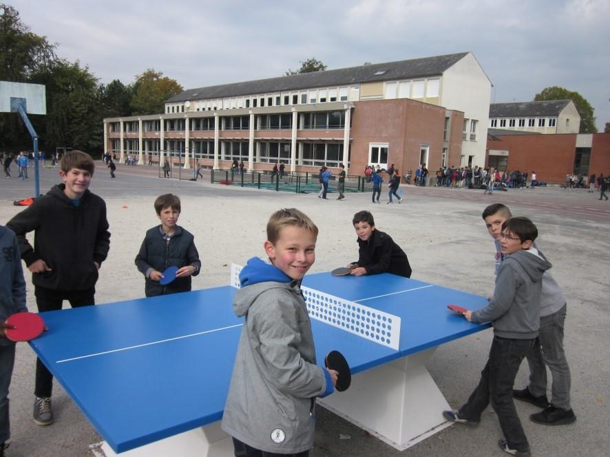 partie de ping pong