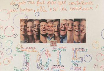 photo Journée de la joie Collège Mur d'expression